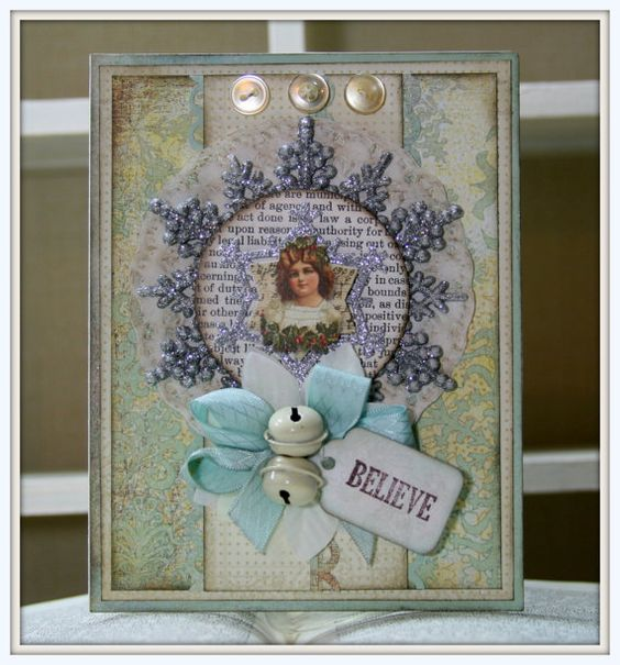 Handcrafted Vintage Inspired Victorian CHRISTMAS by PollysPaper, $9.00