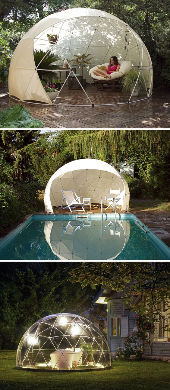 Transparent igloo offers sanctuary to enjoy your garden year round gardens fabrics and - The garden igloo ...