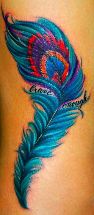 Feather changing colors with words inside- warrior, fighter, survivor,preemie,emerged, strength, breath maybe w/ preemie feet inside?
