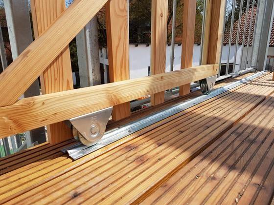 Schiebetor Fur Den Balkon Bauanleitung Zum Selber Bauen Selber Machen Balkon Selber Bauen Schiebetor Balkon Bauen