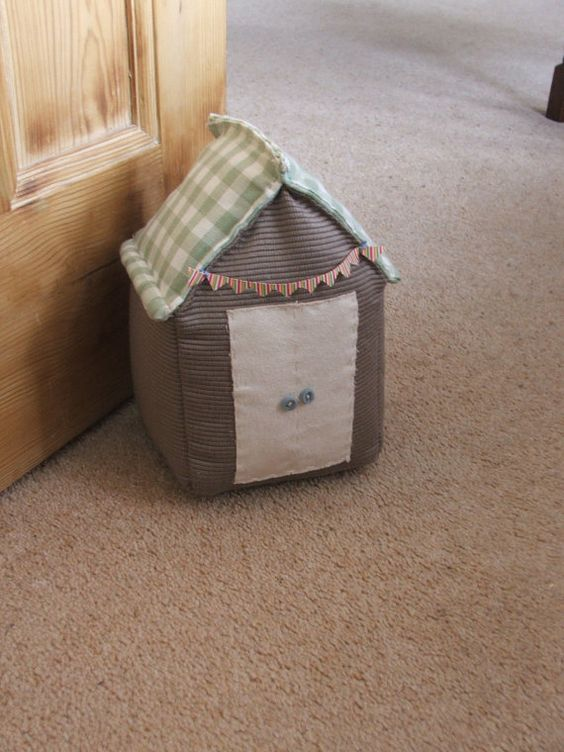 Handmade door stop beach hut beaches house and doors for Door stop idea