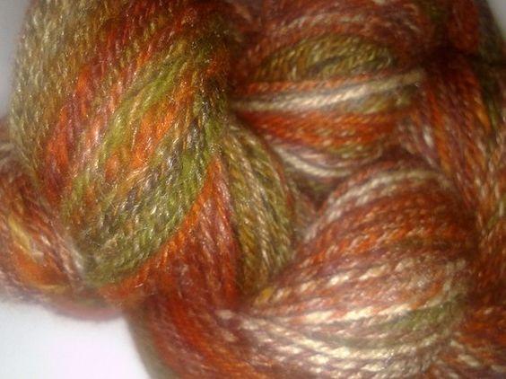 Handspun Merino/Silk Yarn  Urban Fox  147m/161y by secretspinner, $35.00