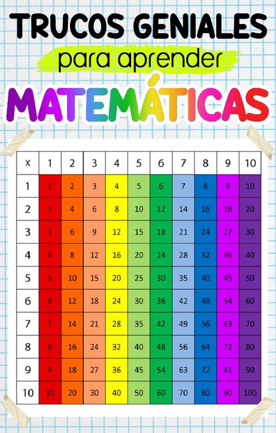 Los mejores trucos de matemáticas para preescolar, primaria, secundaria y bachillerato. Con ideas de material didáctico e ilustraciones que reforzarán el aprendizaje con los números.