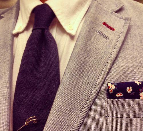 Gant shirt- Ralph Lauren Purple Label tie - H jacket -The Hill Side pocket square