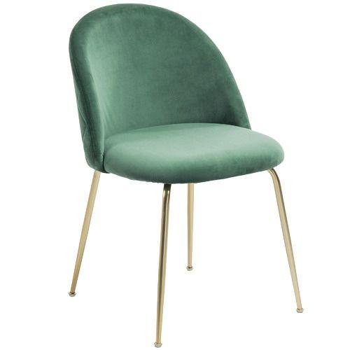 Linea Furniture Gold Leg Velvet Dining Chair In 2020 Dining
