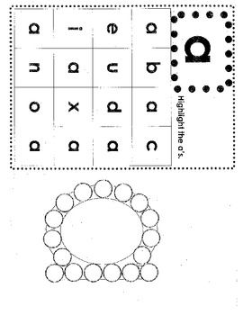 This download includes one sheet per letter.  Each sheet focuses on one lowercase letter.  Students will idenifiy and highlight the focus letter and then stamp, color or place stickers on the dots to make the shape of that letter.    This is great for morning work, center time, whole group practice, or to help struggling students.
