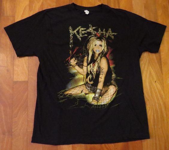 "Ke$ha Kesha 'Get Sleezy"" Concert Tour T-Shirt, 2XL"