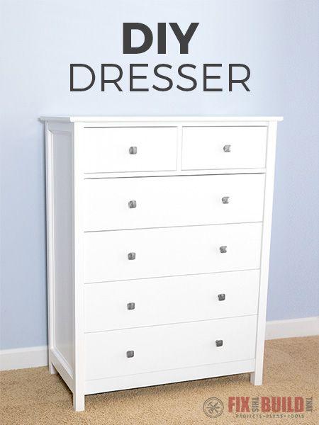 How To Build A Diy Dresser 6 Drawer Tall Dresser Fixthisbuildthat Diy Dresser Diy Dresser Plans Diy Dresser Build