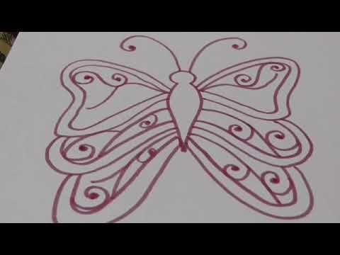 رسم فراشة بطريقة سهله Youtube Art Stuff To Buy