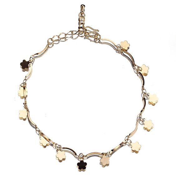 18k Plated Gold Golden Hanging Stars Anklet Chain for Feet Decoration