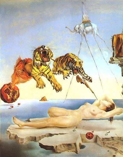 V: Here is my favorite painting created by my favorite artist, Salvador Dali. I stole this painting from the Norsefire storage facility. Dali was a surrealist painter warping and dismantling the conventional notions of artistic expression, an anarchist of illustration.