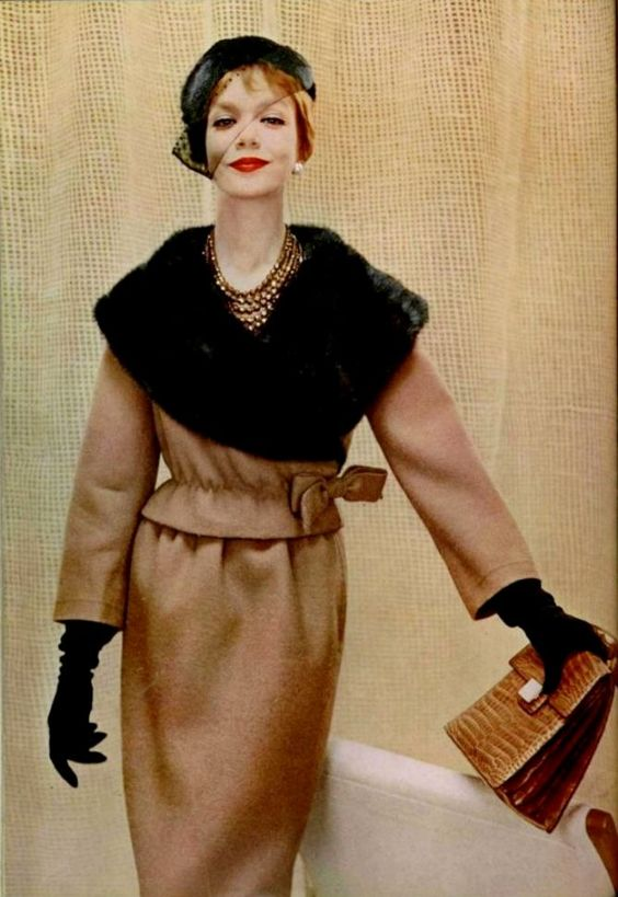Lanvin-Castillo outfit, L'Officiel 1958.