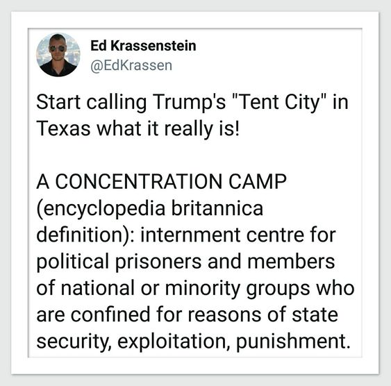 It's a concentration camp!