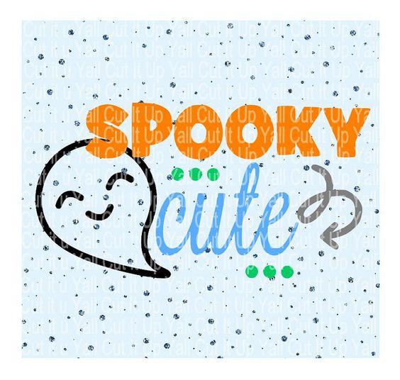 Spooky Cute Svg Cutting File Ghost Svg Halloween by CutItUpYall: