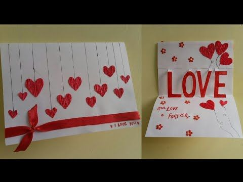 Diy Valentine Card How To Make Triple Easel Heart I Love You