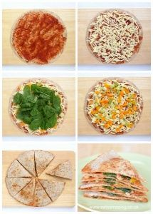 Quick vegetarian pizza quesadilla recipe - it takes just 5 minutes to make this easy healthy lunch - Eats Amazing UK