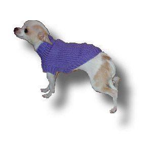 XXS Plain Dog Sweater Pattern! Knit Dog Sweater Patterns ...