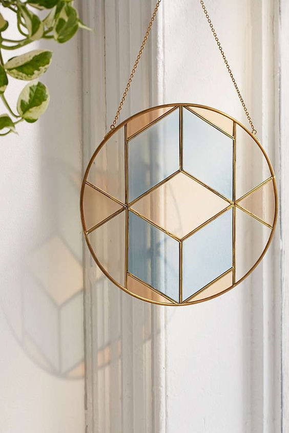 Hanging decor: stained glass window hanging