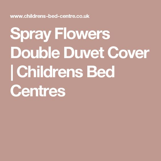 Spray Flowers Double Duvet Cover | Childrens Bed Centres