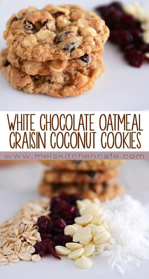 white chocolate chocolate chips coconut cookies chocolate oatmeal ...