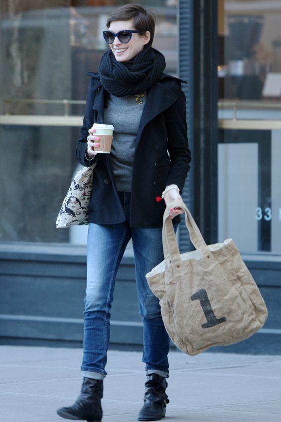 Anne Hathaway im Freizeitlook