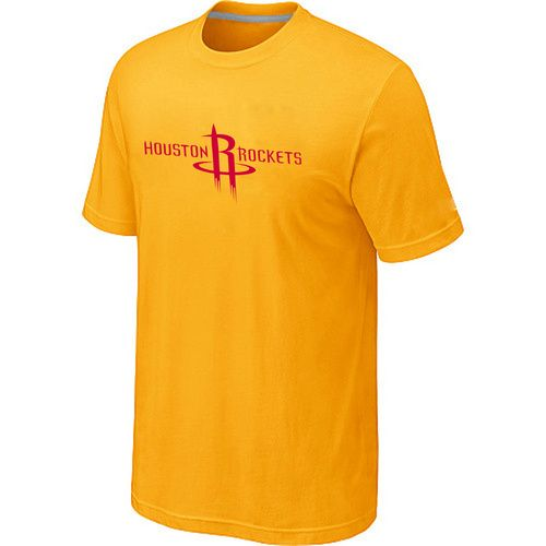 Houston Rockets adidas Primary Logo T-Shirt -Yellow , wholesale online  $12.99 - www.vod158.com