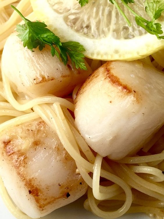 Peconic Bay Scallops With Pasta Butter And Lemon Recipe