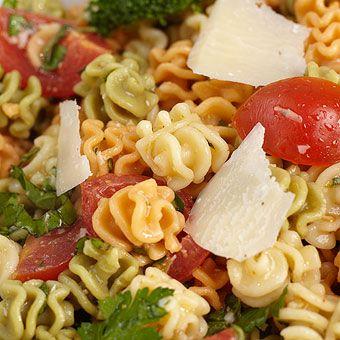 Habanero Mango Aioli Pasta Salad ~ via  www.stonewallkitchen.com/recipes/salads/view-all-salads/R100932.html