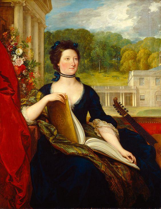 1799 The Athenaeum - Maria Hamilton Beckford (Mrs William Beckford) (Benjamin West - ):