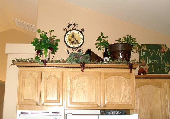 Tuscan Kitchen Wall Decor | Lady Goats: Decorating Above Kitchen Cabinets