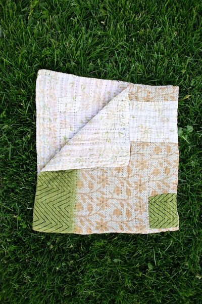 Beautiful kantha blankets by Hand & Cloth