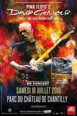 David Gilmour en concert au Parc du Château de Chantilly en juillet 2016