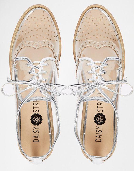 Image 4 - Daisy Street - Chaussures plates style richelieu - Transparent