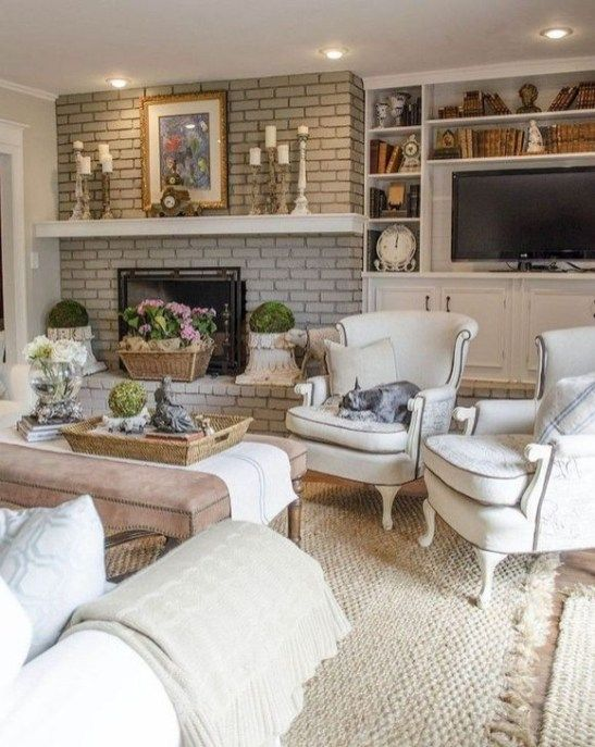 Adorable French Country Living Room Ideas On A Budget 08 Em 2020