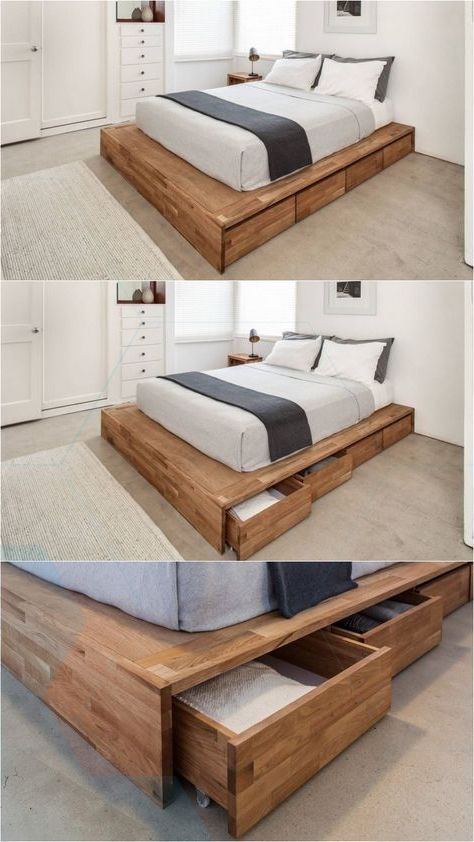 Hey Guys I 39 M Support To Part The Simple Diy Platform Bed That I Made For My Lit Plateforme Meuble Chambre A Coucher Deco Petit Appartement
