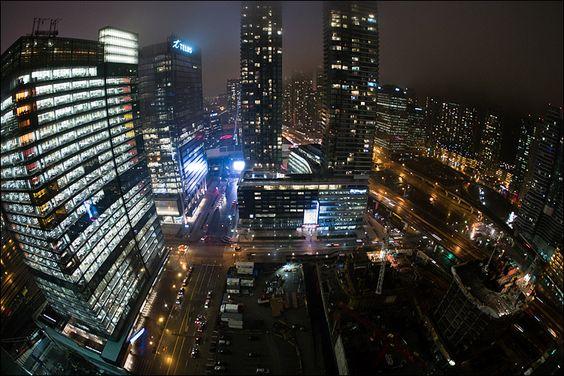 Toronto on a rainy night.