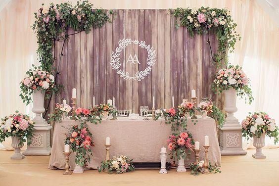 Свадьба Александра и Александры в итальянском стиле, стол молодожен: