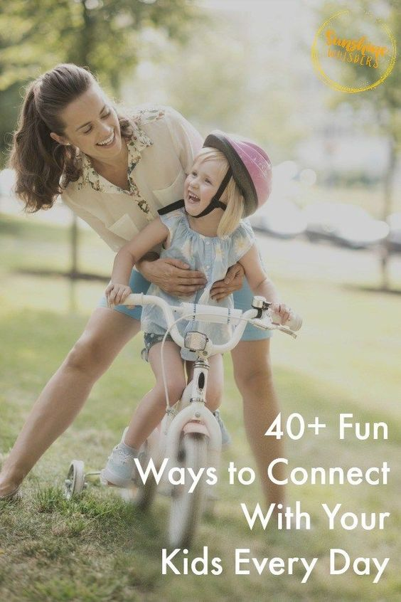 These are some really great tips! I tried some with my daughter and we had a blast! 40+ Fun Ways to Connect With Your Kids Every Day