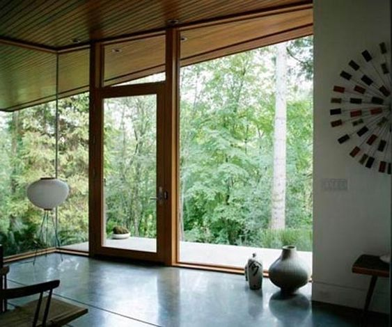 If only my dream-resting-on-a-hill home opened out into the woods like the Twilight Cullen House.