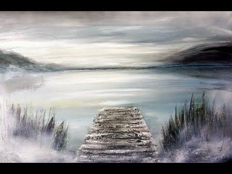 Abstract Painting Acrylmalerei Spachtelmasse Marmormehl Youtube