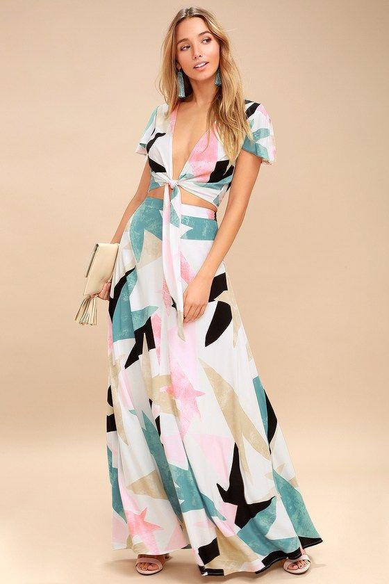 Summer Flowy Bohemian Maxi Dresses