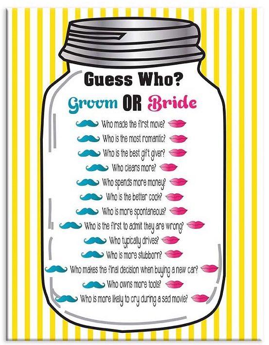 Bridal Shower Game