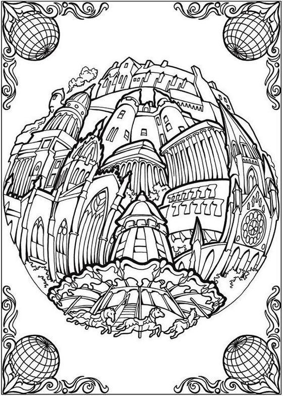 Circular Cities Adult Coloring Book. Also see the category to ...