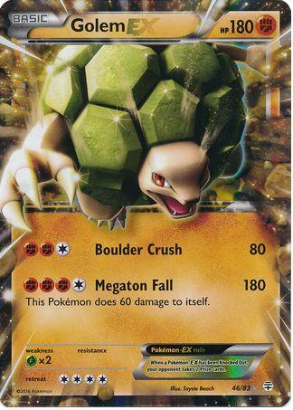 Golem EX 46/83 Pokemon TCG: Generations, Holo Pokemon Card