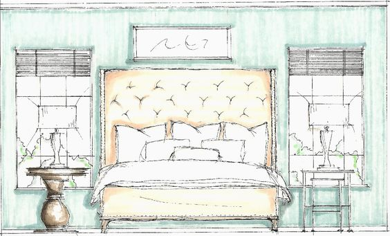 Bedroom Idea Drawing | Design Sketches » Bedroom Sketch: