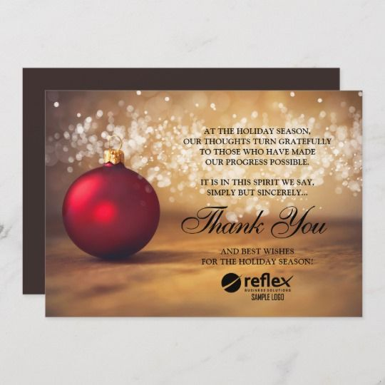 Business Holiday Cards Corporate Thank You Card Zazzle Com With
