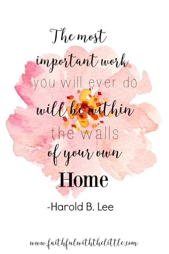 faithful with the little: Seeing homemaking as a labor of love instead of drudgery- With FREE PRINTABLE!