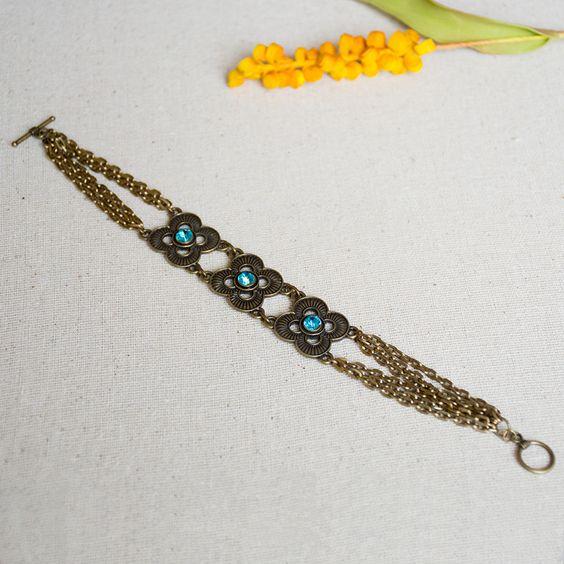 Nicole's Bead Shop Blue Bohemian Bracelet #jewelry #DIY