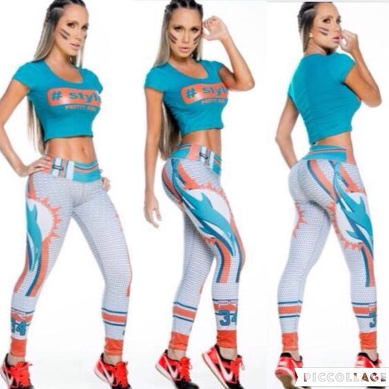 Miami Dolphins... Are You Ready for 🏈 NFL Season? We Are!! We have a lot of Team. Follow Us and Visit www.fashionactivewear.com for News, Photos and Promotions  #leggings #pants #tights #fashionactivewear #gym #crossfit #yoga #pilates #motivation #sexy #fashion #love #beauty #beautiful #outfit #shopping #miamidolphins #ootd #lookoftheday #clothes #fashionista #instagood #football #follow #nfl #giants #broncos #patriots #miami #raiders