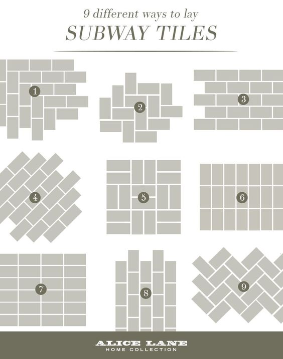Different Ways To Lay Subway Tiles